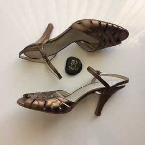Franco Sarto Shoes - Franco Sarto Debito Bronze Sandals Size 10
